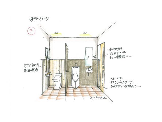 暖かみのあるトイレ